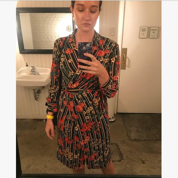 0f436954 Zara Dresses | Floral Wrap Dress | Poshmark